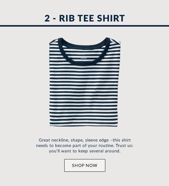 Rib Tee Shirt