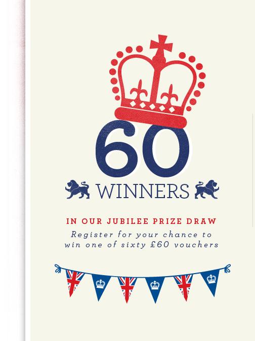 WLands' End Jubilee Prize Draw Win 60 x £60 Vouchers