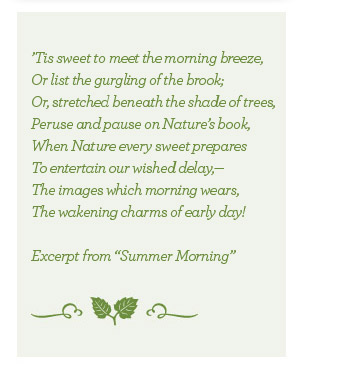 Excerpt from Summer Morning by Poet John Clare