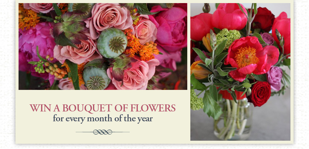 Win a bouquet of flowers for a year