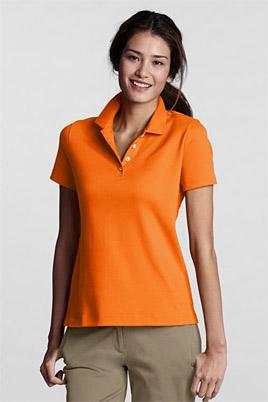 Women's Plain Short Sleeved Pima Polo Classic Fit