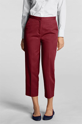 Women's Adjustable-waist Cropped Chinos