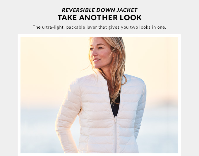 Mens reversible down jacket