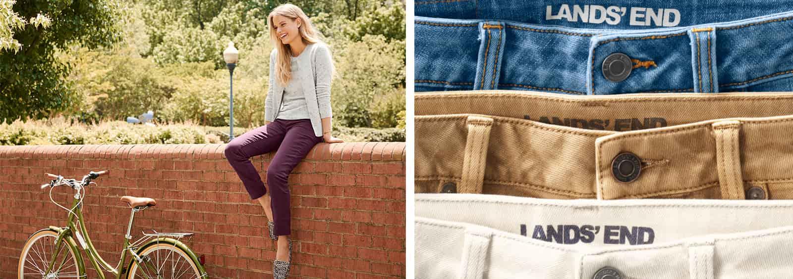 Flattering straight cut jeans