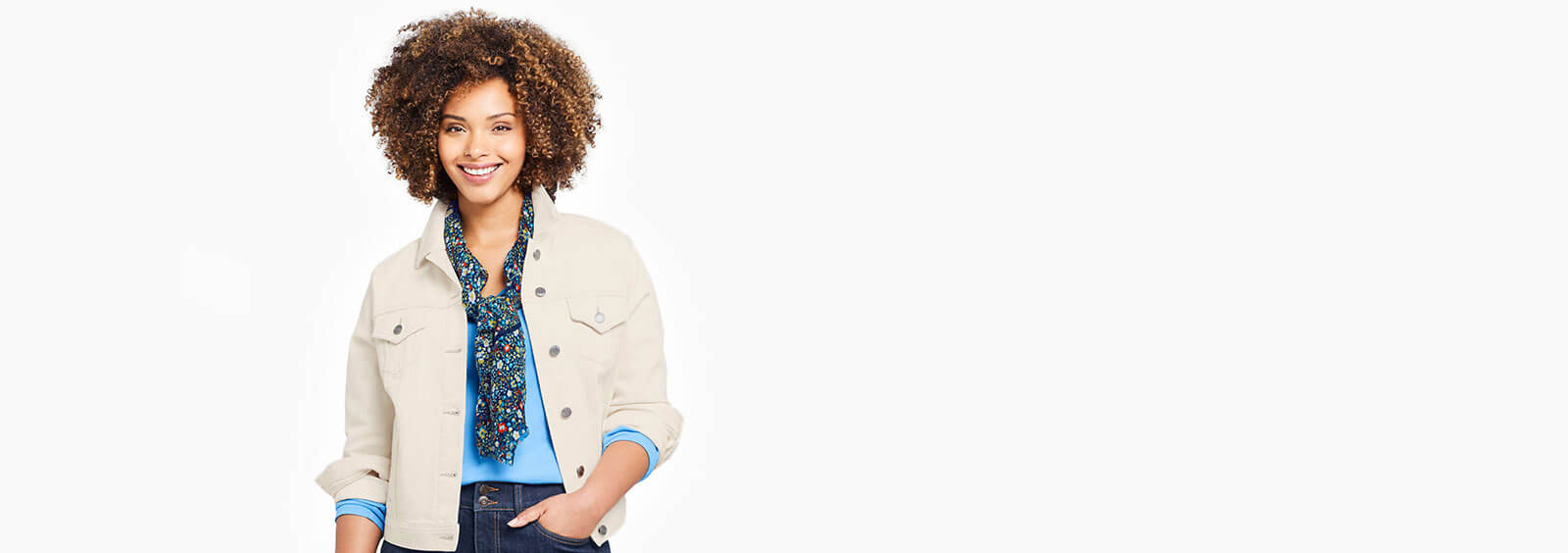 Women's Plus Size Long Denim Jackets Are Trending This Fall