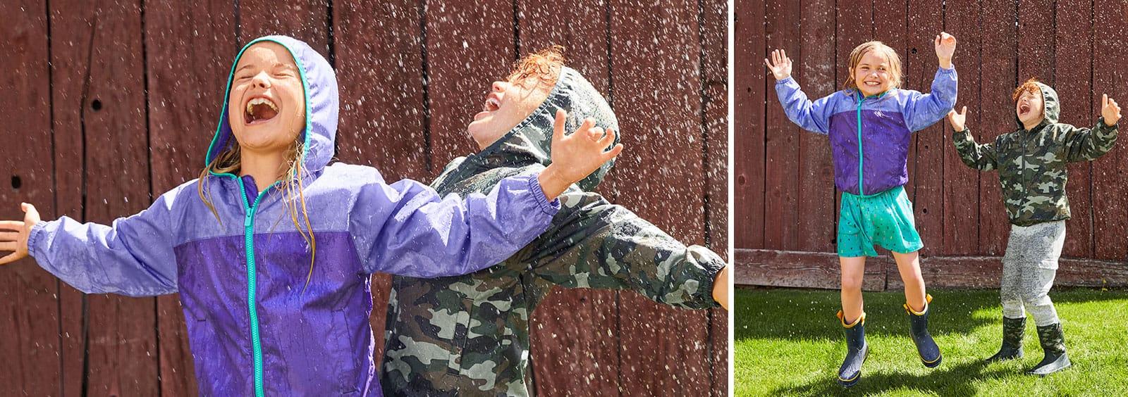 Kids' rain jackets