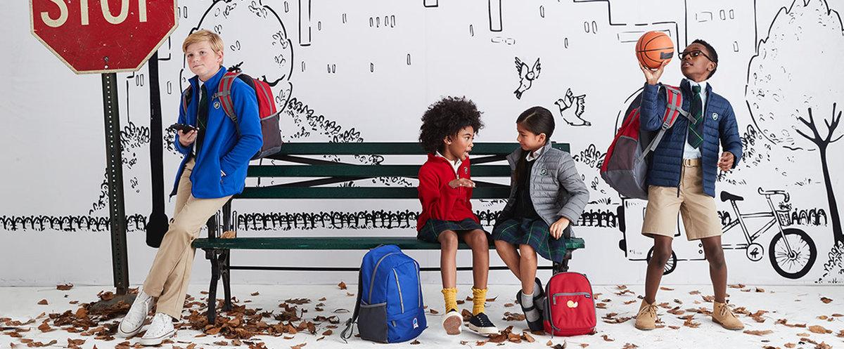 Cute Kids' School Uniforms for Virtual Learning
