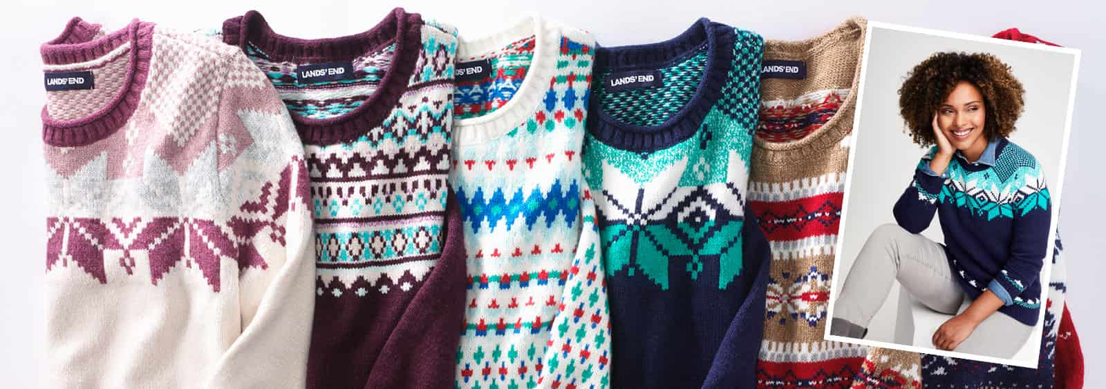 Christmas Sweaters to Wear to Your Office Party   Lands' End