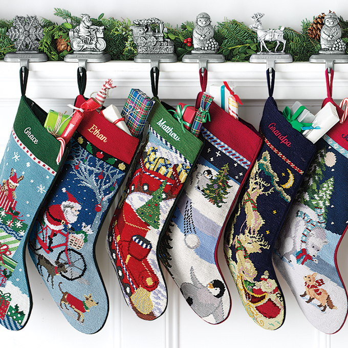 Lands End Christmas Stockings.Kids Stocking Lands End