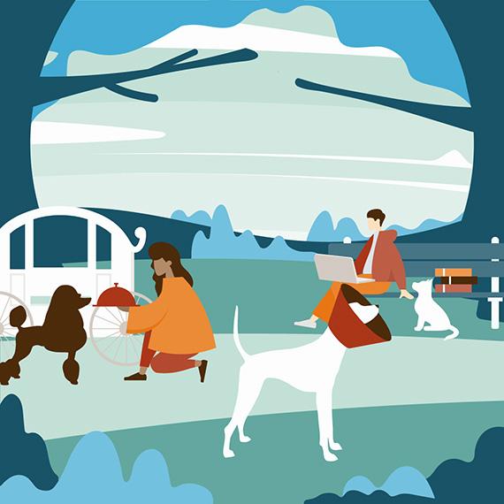Abenteuer mit Hunden