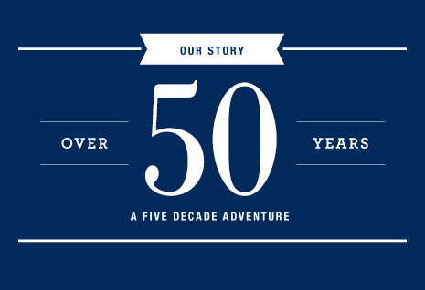 Lands' End - Out Story. Over 50 years. A five decade adventure.