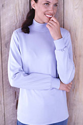 Women's Plus Long Sleeve Relaxed Polo Neck