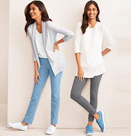 Women's jersey trousers